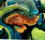 Baumimpression - Acryl auf Leinwand 50 x 40 cm Original Ingrid Wolff-Bleekmann - Münster