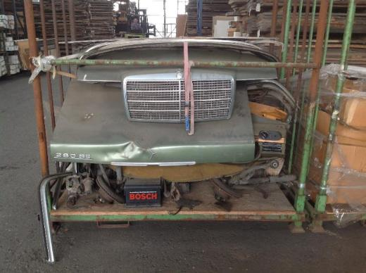 2x Mercedes Benz S-Klasse W116 280SE in Einzelteilen