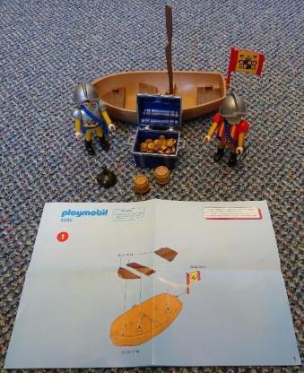 Playmobil Schatztransport im Ruderboot 4295
