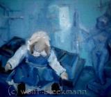 Schauplatz III - Öl auf Leinwand 40 x 30 cm Original Ingrid Wolff-Bleekmann - Münster
