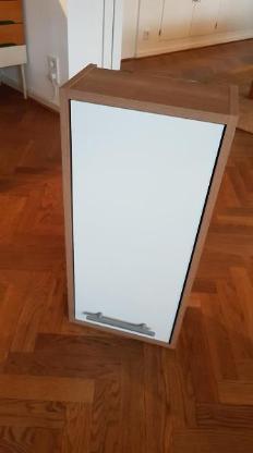 Wandschrank für Badezimmer Edelnussbaum / Weiß