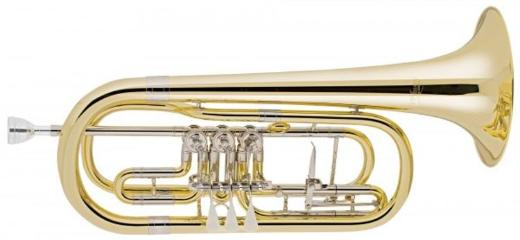 V. F. Cerveny Basstrompete in B, weite Bauform mit Tonausgleich, NEUWARE