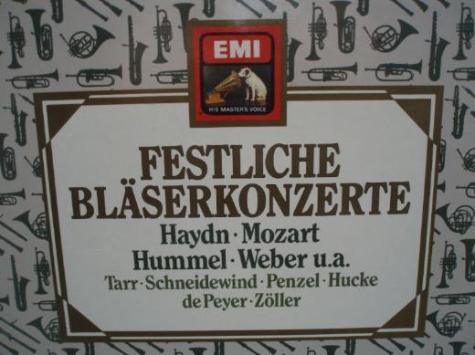 Festliche Bläserkonzerte von Haydn – Mozart -- Hummel – Weber u.v.a., neuw. Zust.