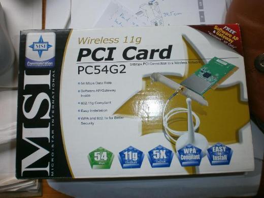 WLAN, MSI - PCI Card, PC54G2 - Netzwerkkarte