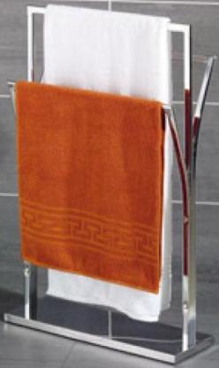 Handtuchhalter/Handtuchständer aus Chrome