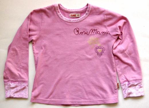 KANZ-Mädchen-Pullover, Gr. 116, rosa