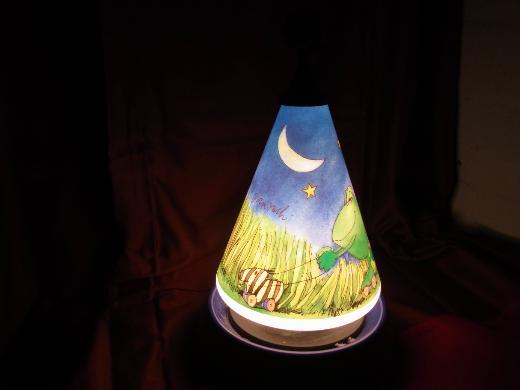 KINDREZIMMER-LAMPE mit SPIELUHR
