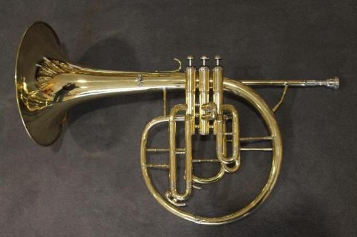 Kühnl & Hoyer F und Eb / Es - Mellophon. Messing lackiert