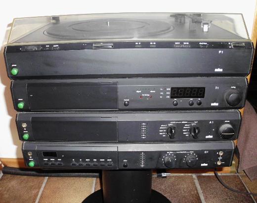 BRAUN Atelier  HiFi Stereoanlage mit 2 hochwertigen Lautsprechern