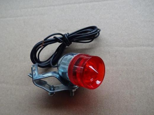 Oldtimer Mini Rücklicht mit Birne, mit Halter u. Kabel