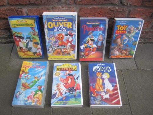 Walt Disney  7 Filme  VHS