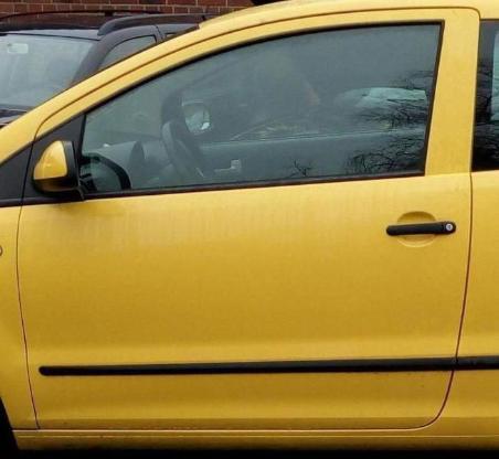 VW Fox 2007 Schlachtfest Frontscheibe Color Grün