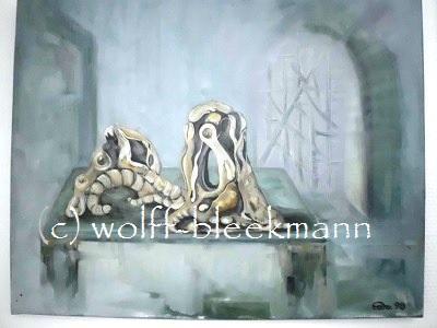 Vision/Baumwurzeln 2 - Öl auf Leinwand 50 x 40 cm Original Ingrid Wolff-Bleekmann