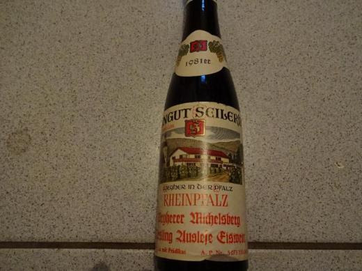 38 Jahre alter Wein: Weyherer Michelsberg, Rheinpfalz, Eiswein, 1981