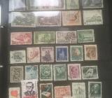 Diverse alte Briefmarken (2. Weltkrieg, DDR, etc.) .... - Bocholt