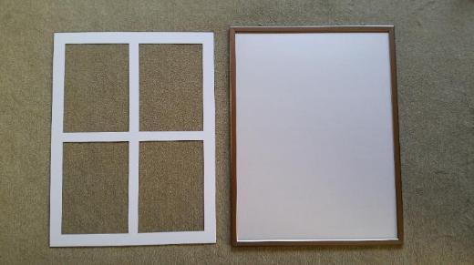 Alu-Klapprahmen, Bilderrahmen, Plakatrahmen 550 x 720mm – gebr.