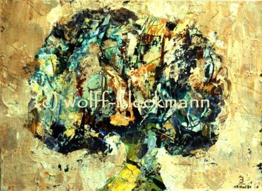 Lebensbaum - Acryl auf Leinwand 40 x 30 cm Original Ingrid Wolff-Bleekmann
