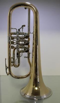 Miraphone 24 R Premium Konzert - Flügelhorn aus Goldmessing mit Neusilberkranz