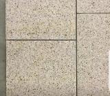 Granit Fliesen Padang gelb (Giallo Gloria) geschliffen, Boden, Platten - Mettingen