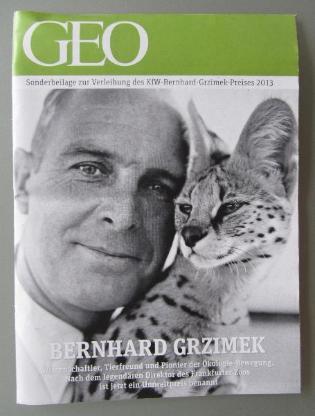 GEO Sonderbeilage zur Verleihung des KfW-Bernhard-Grzimek-Preises 2013.