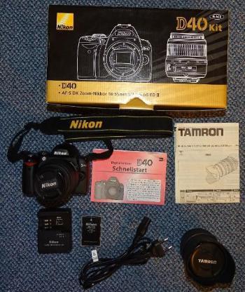Nikon D40 / AF-S DX Zoom-Nikkor 18-55mm f/3.5-5.6G ED II, schwarz