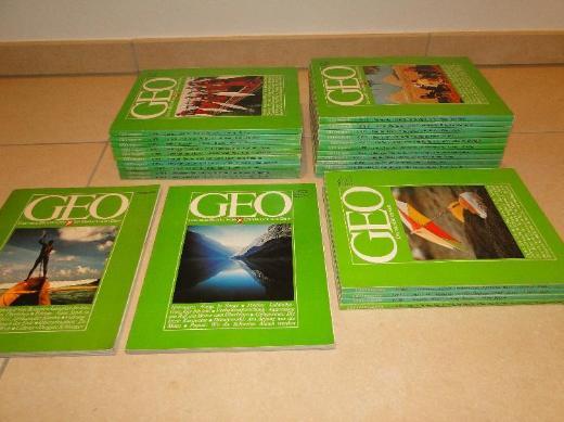 GEO Erstausgabe 1976, 1977, 1978, 1980, 1991 - 28 Hefte