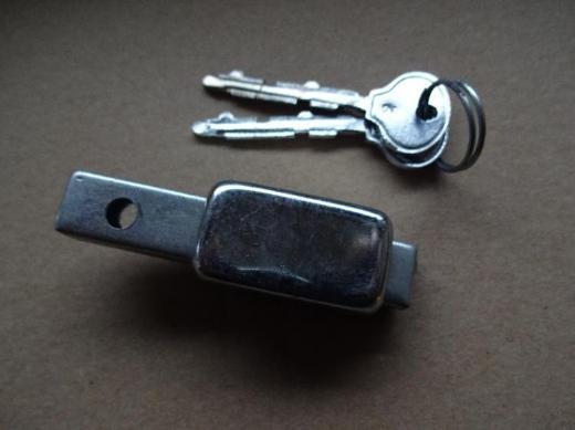 Oldtimer Speichenschloss, Rahmenschloss, mit 2 Schlüsseln