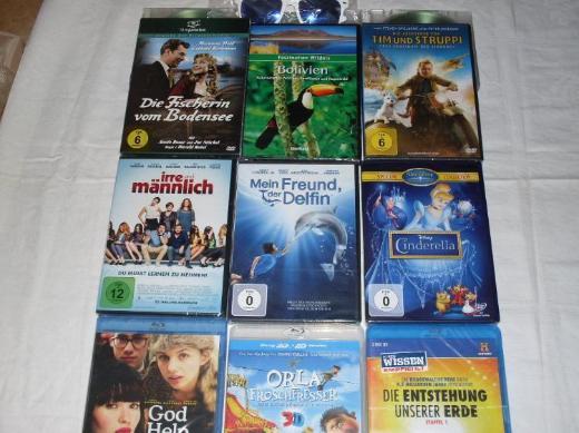 Filmpaket Blu-Ray's+DVD's