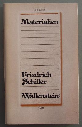 Materialien Friedrich Schiller: Wallenstein.