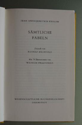 Krylow: Sämtliche Fabeln (1984)