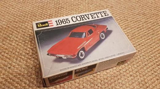 1965 CORVETTE  - H-1270- ungebauter REVELL Auto Modellbausatz  aus den 70er Jahren