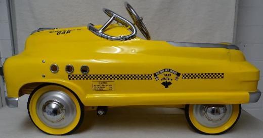 """Hot Rod Tretauto Sondermodell """"Taxi"""" aus Blech"""