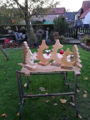 Adventsdeko, Deko mit Teelicht, Vogelfutterstationen