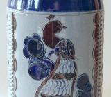 Bierkrug mit Pfaumotiv, aus Bad Tölz, 1960er Jahre - Münster