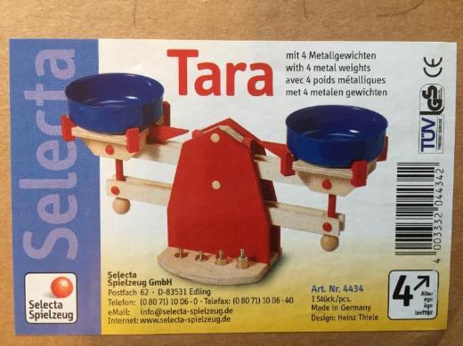 SELECTA Holzwaage 'TARA' 4434 neuwertig unbespielt