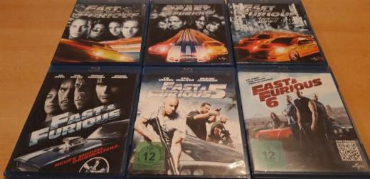 Fast and Furious 1-6 Bluray