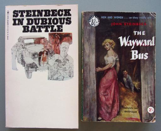 "John Steinbeck: ""In Dubious Battle"" + ""The Wayward Bus""."