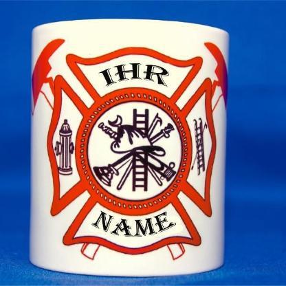 Feuerwehr Tasse mit individuellem Namen