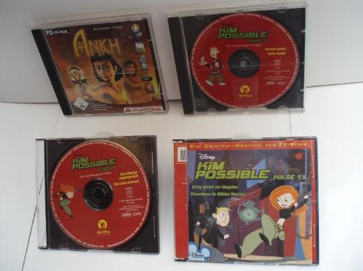"3 CD`s KIM POSSIBL, Folge 8 - 9 - 11 und ein ""ANKH"" CD-ROM PC Spiel, gebr."