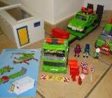 Playmobil Schwertransport mit Kran, Jeep & Garage 4084 SELTEN!!! - Raesfeld