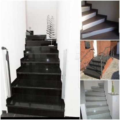 Hochwertige Belagtreppe Betontreppe für Innen&Außen Granit Marmor