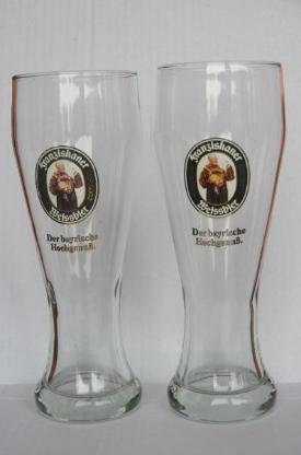 2 Gläser Franziskaner Weißbier 0,5 l