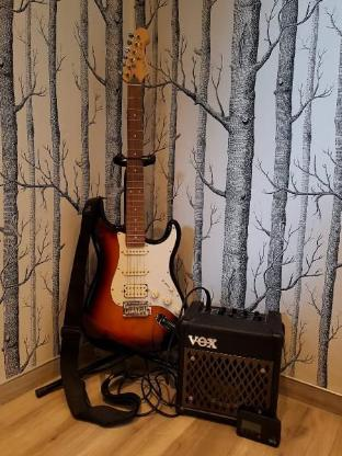 E-Gitarre Cruzer by Crafter inkl. Zubehör, perfekt für Einsteiger