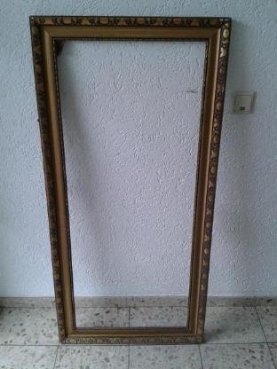 großer ANTIKER Holz-Bilderrahmen 62 x 130 cm