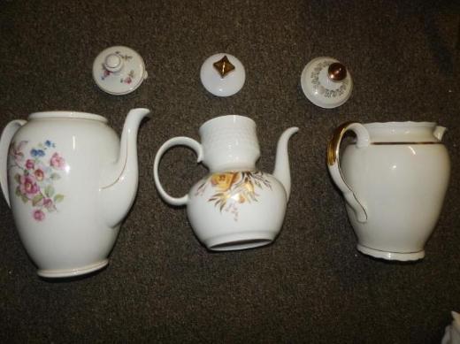 Drei alte Kaffeekannen, 40er/ 50er Jahre