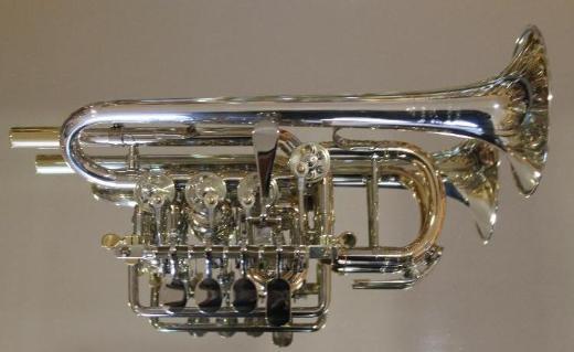 Meister J. Scherzer Piccolotrompete, Mod. 8111ST-L, Sterlingsilber, Neuware / OVP